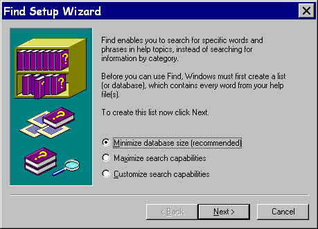 Find Setup Wizard
